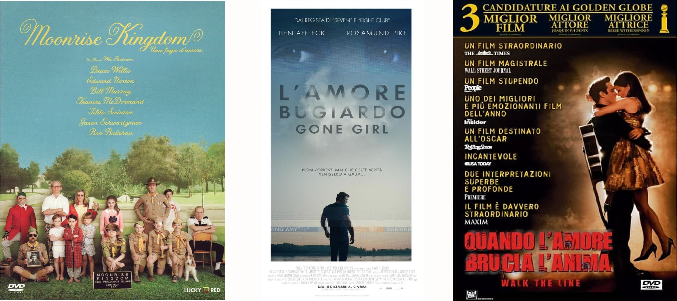 moonrise kingdom - gone girl - walk the line