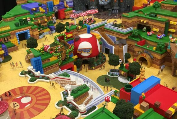 Un'immagine in anteprima del Super Nintendo World resa disponibile da Nintendo