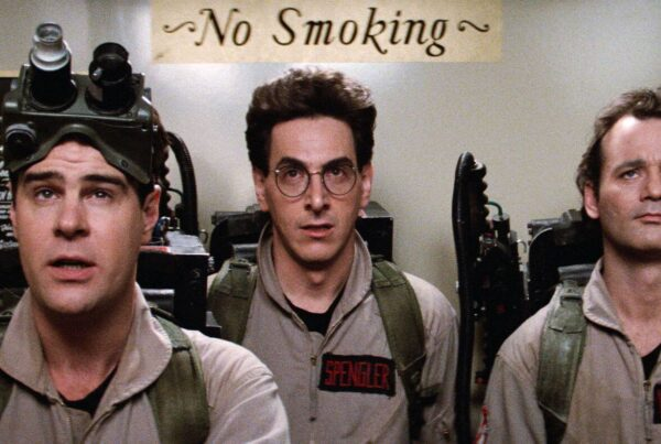 Harold Ramis, Dan Aykroyd e Bill Murray in una scena di Ghostbusters